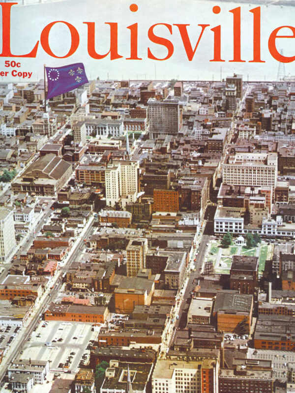 Louisville Magazine's first cover, from March 1950