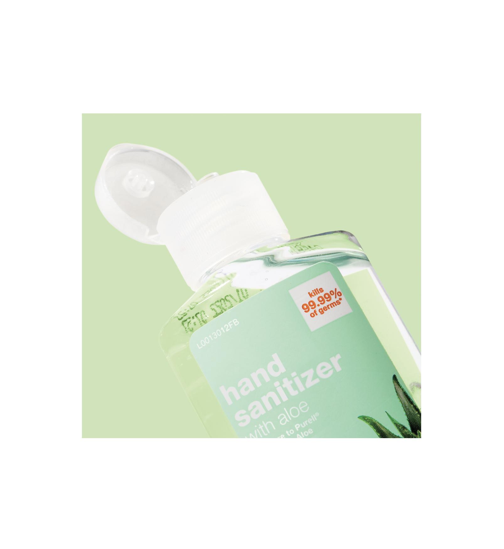 A hand sanitizer bottle.