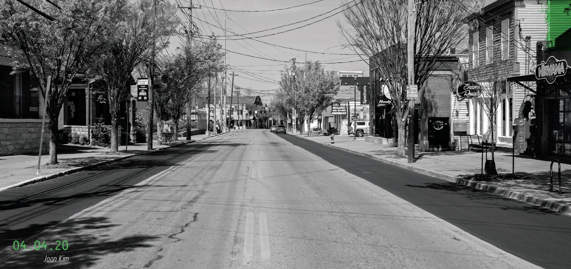Empty Bardstown Road. 04.04.2020, by Joon Kim
