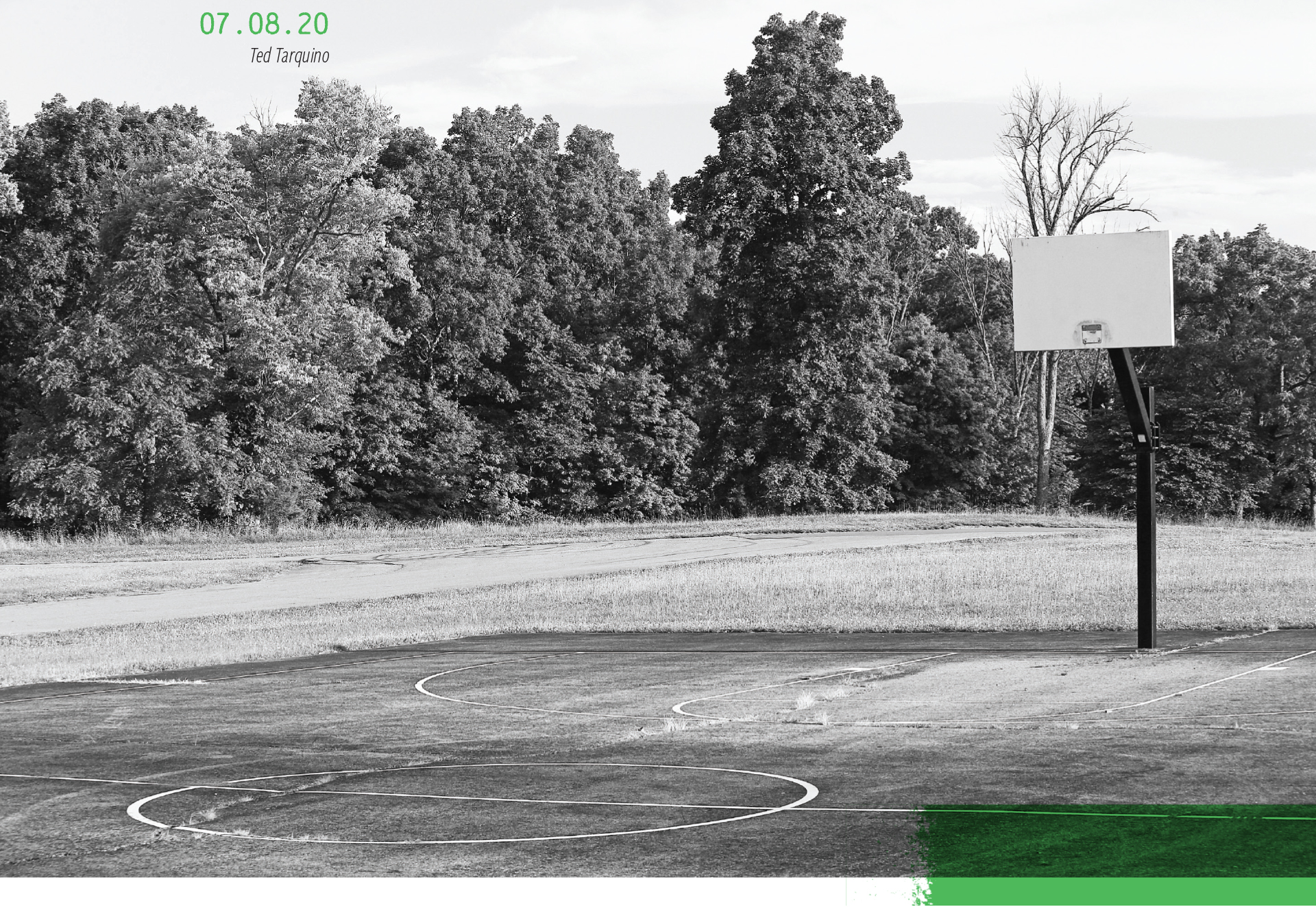 An empty basketball court at a park, 07.08.2020, by Ted Tarquinio