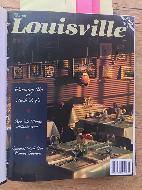 Louisville Magazine's February 1990 cover