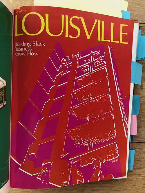 Louisville Magazine's May 1971 cover