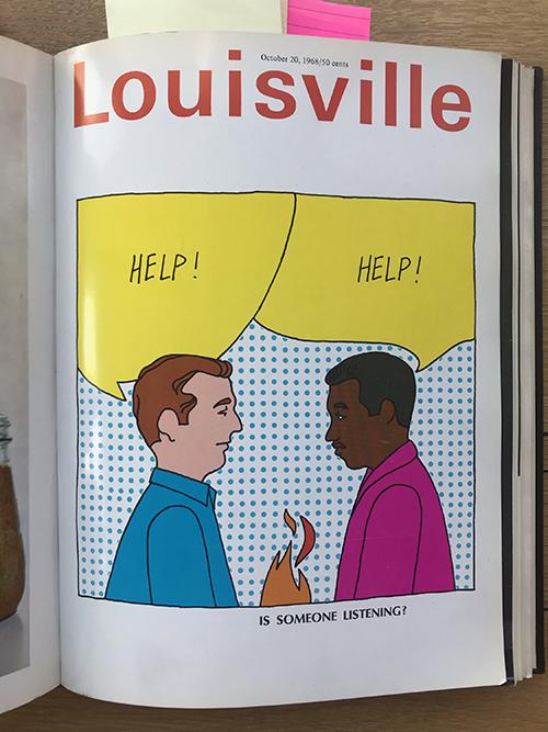 Louisville Magazine's October 1968 cover