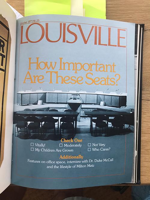 Louisville Magazine's October 1977 cover