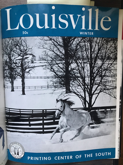 Louisville Magazine's winter 1951 cover