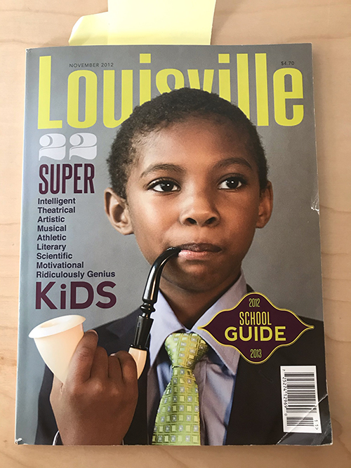 Louisville Magazine's November 2012 cover