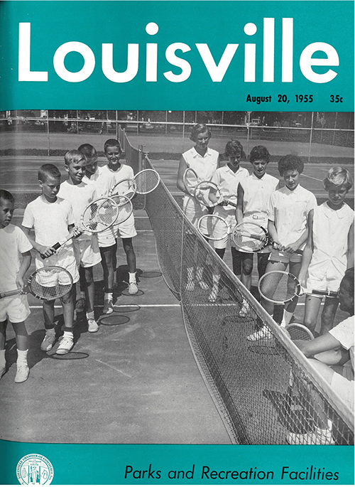 Louisville Magazine's August 1955 cover