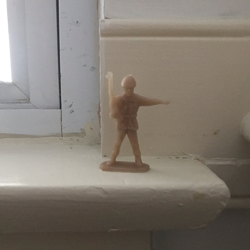 A small toy soldier